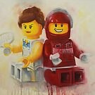 Lego figures, game, set & match by Deborah Cauchi