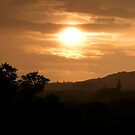 Sunset over Parbold Hill, Wigan by Becky Jackson