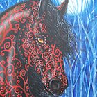 """Moonsfyre"" Stallion of Nyteworld by Beth Clark-McDonal"