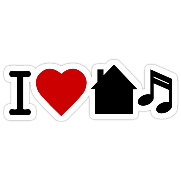 I Love House Music by personalized
