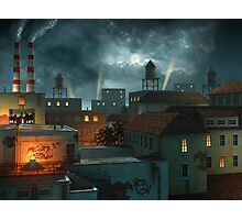 Zone Industrielle - Night Photographic Print