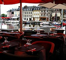 Dining - Honfleur, France by Marilyn Harris
