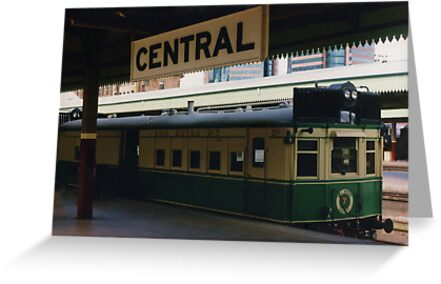 Historic Rail Motor at Central Station by Michael Vickery