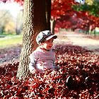 Little Girl in Late Autumn Sun by Jenna Florescu
