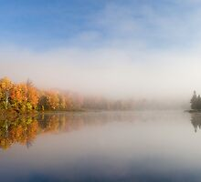 Lake Reflection - Davis, West Virginia by hankfrentzphoto
