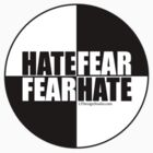 Hate Fear - Sticker by LTDesignStudio