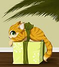 Christmas present kitty by Tunnelfrog