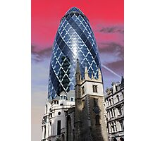 Old and new - Gherkin Photographic Print