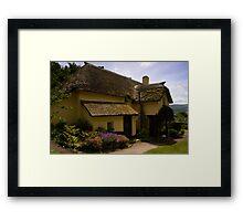 Periwinkle Cottage,Selworthy Exmoor Framed Print