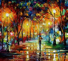UNREAL SCENSES - original oil painting on canvas by Leonid Afremov by Leonid  Afremov