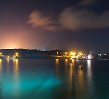 Harbour by night by BradBaker