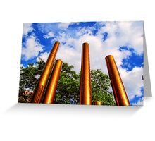 Pillars of Peavey Plaza Greeting Card