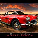 Summer Cruising ~ Little Red Corvette by Ken Wright