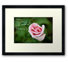 Wishing You a Peaceful Mother's Day Framed Print