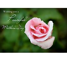 Wishing You a Peaceful Mother's Day Photographic Print