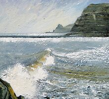 Looking Towards Old Nab, Staithes by Sue Nichol