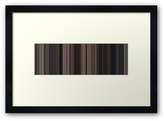 Moviebarcode: Back to the Future (1985) [Simplified Colors] by moviebarcode