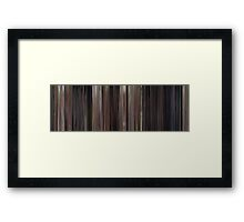 Moviebarcode: Back to the Future (1985) Framed Print
