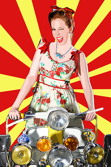 Scootering Smile by Smudgers Art