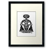 Elephant Mask Framed Print