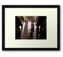 Stairs to the Underground _ with a touch of colour Framed Print