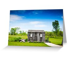 Abandoned Hut  Greeting Card