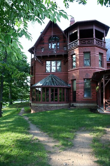 Atrium, and Back Porch of Mark Twain's Hartford Homestead  by KDskier