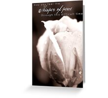 Whisper of Peace Greeting Card