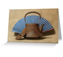 Old Cast Iron Japanese Kettle Greeting Card