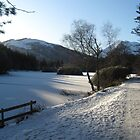 The Frozen Lochan. Glencoe by Alexandria Mia Dancey