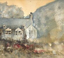 Greeting Card - Ballater Beauty - Ballater Deeside, Watercolour - Sam Austrin-Miner by Sam Austrin-Miner