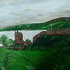Urghart Castle, Loch Ness by Tricia Winwood