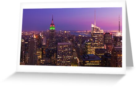 The Empire State Building at Dusk - New York City by Dominic Boudreault