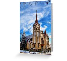 Christmas Church Greeting Card