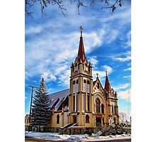 Christmas Church Photographic Print