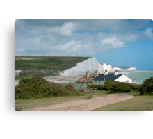Seven Sisters: White Cliffs on the South Coast. Canvas Print
