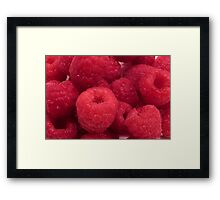 Delicious Red Raspberries Framed Print