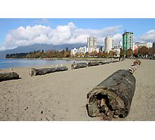 The Sands of English Beach, Vancouver City, Canada  Photographic Print
