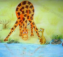 Cedric the Giraffe - Illustration 2 by Corrina Holyoake