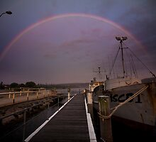 Rainbow at Narooma Jetty by Josh Boyd