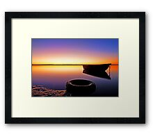 What a Sunrise! - Redland Bay Qld Framed Print