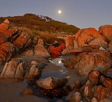""" Moon Rise Cape Conran Vic. by helmutk"