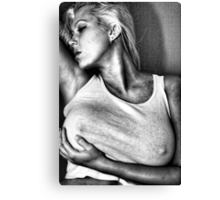Woman in tight fitting top Canvas Print