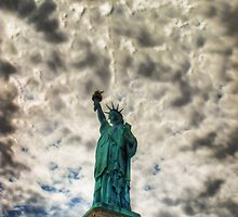 Dark clouds over liberty by adng