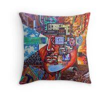 'Portrait of Modern Man' Throw Pillow