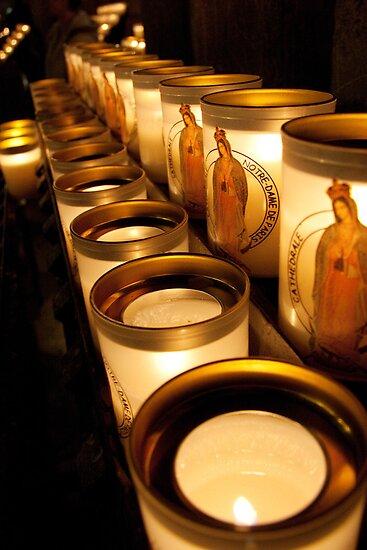 Votive Candles Notre Dame by PhotosbyDrJ