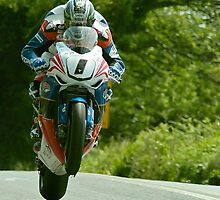 John McGuinness Isle of Man TT 2011 by Stephen Kane