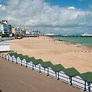Eastbourne Beach - Sussex England by DonDavisUK