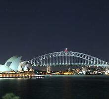 SYDNEY HARBOUR AT NIGHT by raptor2229