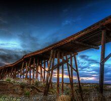 Sunset Bridge by Bob Larson